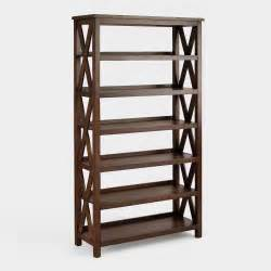 Ladder For Bookshelf Verona Six Shelf Bookshelf World Market