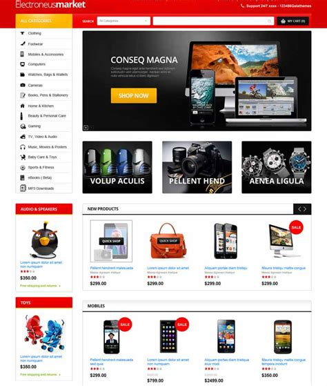 opencart template 25 best free and premium responsive opencart themes