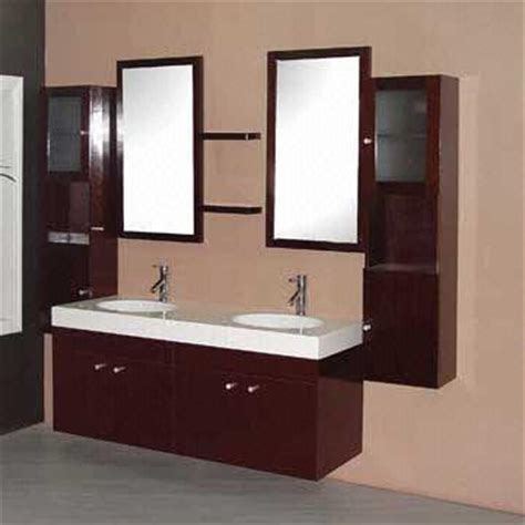 Solid Wood Bathroom Vanity Cabinet Double Sink Design Solid Wood Bathroom Furniture