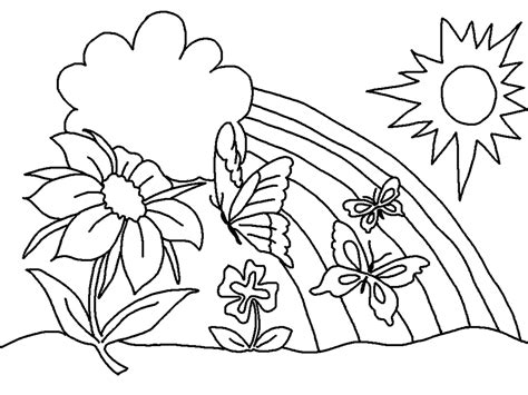 Spring Trap Coloring Pages Coloring Pages Springtime Coloring Pages