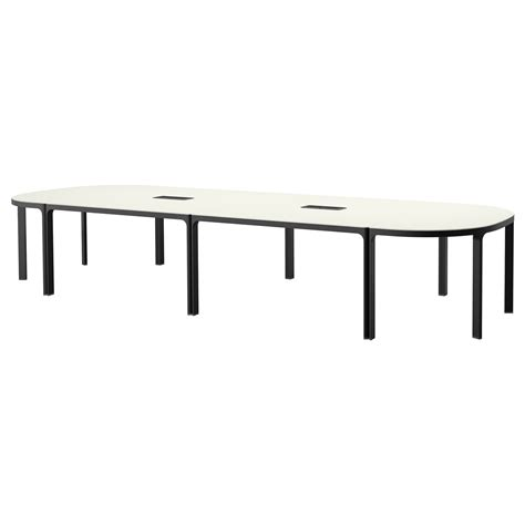 bekant conference table white black 420x140 cm ikea