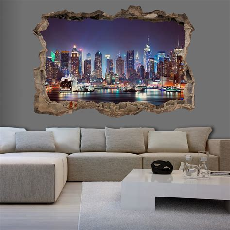 3d wall mural 3d wall illusion wallpaper mural photo print a in the wall optical design ebay
