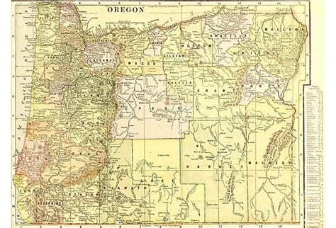 map of oregon mountains and rivers oregon c 1900 on onekingslane map of oregon showing