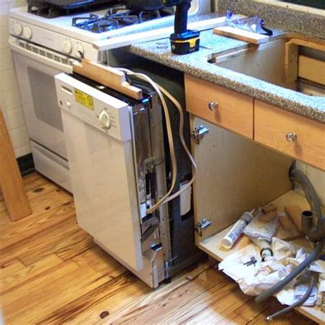 install a dishwasher in an existing kitchen cabinet dishwasher installation hooked up to cold or hot water