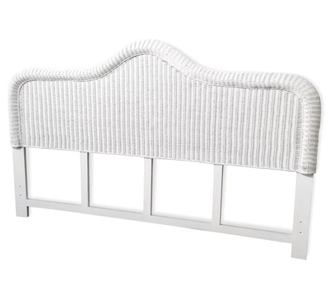 Bedroom White King Wicker Rattan Headboard White Wicker Headboard