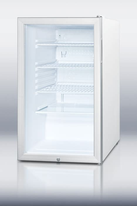 Summit Glass Door Refrigerator Buy Summit Scr450l 4 1 Cu Ft Glass Door Refrigerator At