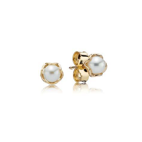 In Stud Earrings cultured elegance stud earrings pearl 14k gold