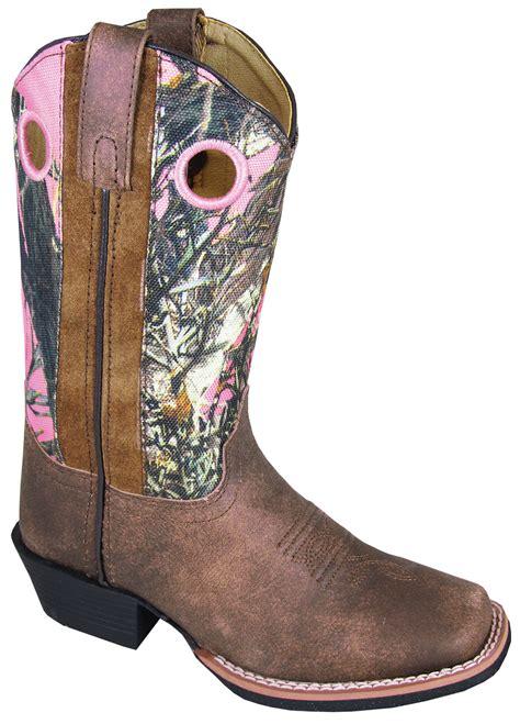 smoky mountain boots children mesa brown pink camo
