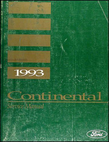 manual repair autos 1993 lincoln continental electronic toll collection 1993 lincoln continental repair shop manual original