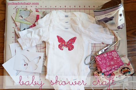 Decorate A Onesie by Baby Shower Crafts Decorate Onesie S The Polkadot Chair