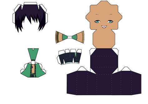 No Papercraft - cecil aijima papercraft template maji 1000 by