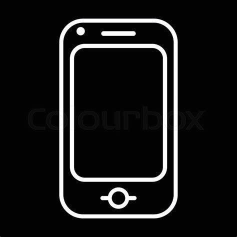 free black mobile modern mobile phone line vector icon isolated on a
