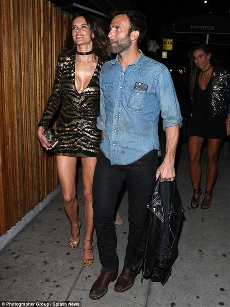Lets Appreciate The Of Alessandra Ambrosio Hollyscoop by Alessandra Ambrosio Wears Sequin Mini Dress To 35th