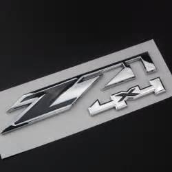 Emblem 4 X 4 Original Auto chrome z71 4x4 emblems sticker fit for chevy silverado decal rear boot car