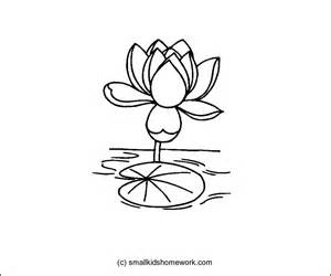 Lotus Outline Images Lotus Flower Outline And Coloring Picture With Interesting