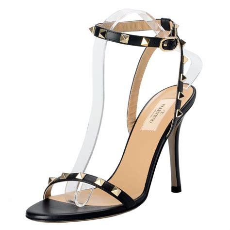 High Heels Valentino valentino black garavani s rockstud leather high