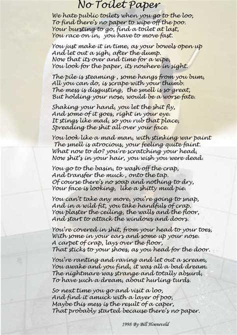 Poems About Bathrooms by 9 Best Images About Toilet Poem On