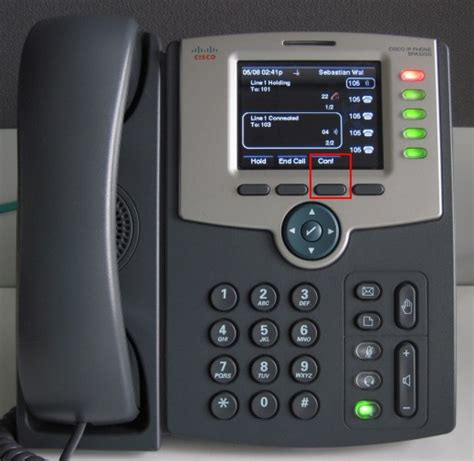 Cisco Spa 525 G make a conference call using cisco spa500 series phones