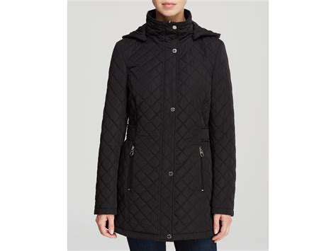 Black Quilted Coats For by Calvin Klein Coat Quilted In Black Lyst