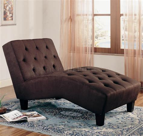 brown microfiber chaise lounge chocolate microfiber button tufted modern chaise lounger