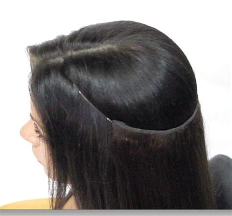 extensions in crown of head pin by miss tress extensions on the hair slip halo method