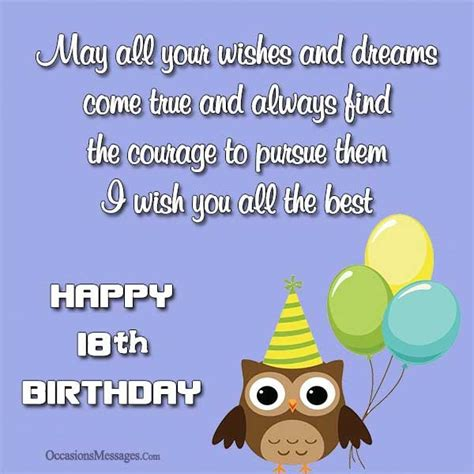 Happy 18 Birthday Wishes Happy 18th Birthday Wishes Occasions Messages