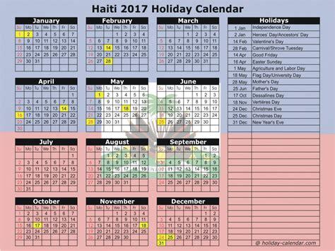 Calendar 2018 Haiti Haiti 2017 2018 Calendar