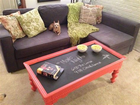 Chalkboard Coffee Table by Makeover A Thrift Store Coffee Table With Chalkboard Paint