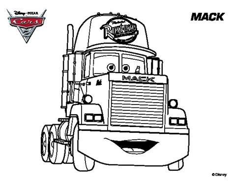 coloring pages cars mack disegno di cars 2 mack da colorare acolore