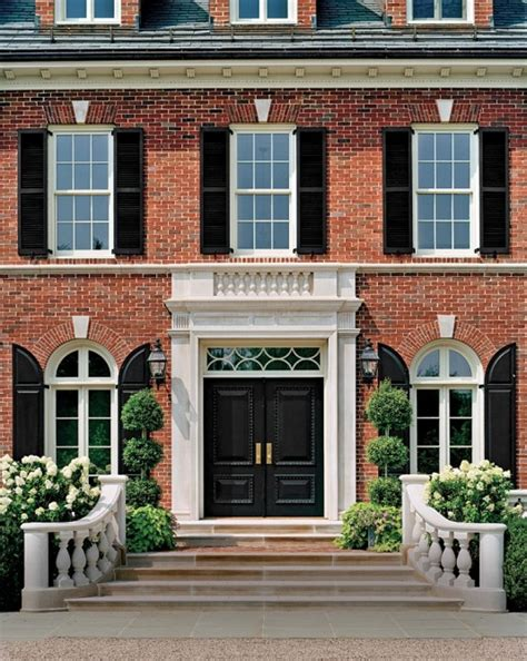 brick house with red door the best place to buy vinyl shutters maria killam the