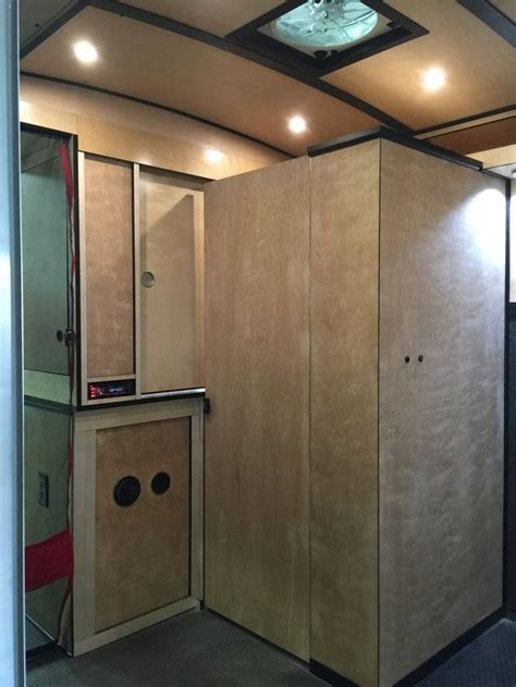 cargo trailer with bathroom cargo trailer cer conversion hometalk