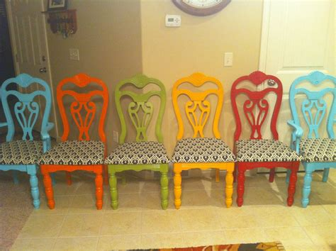 Coloured Dining Room Chairs Pillows By And A Dining Table By