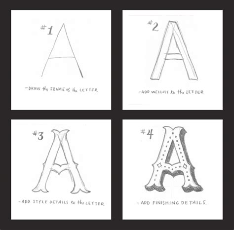 how to draw fantastic letters by in 4 simple steps creative market