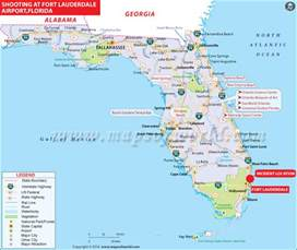 florida map with cities and airports fort lauderdale airport shooting