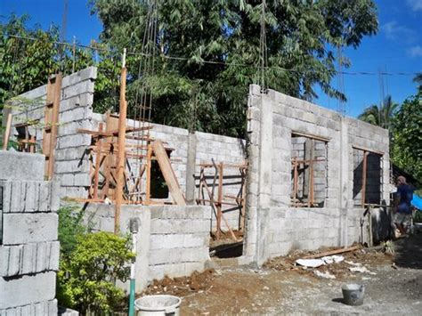building a cinder block house building a concrete block house part 2 philippines