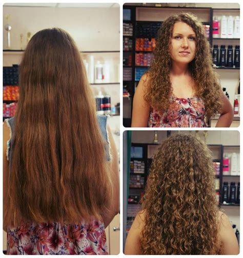 get hair wet after perm 21 best spiral perm before after images on pinterest