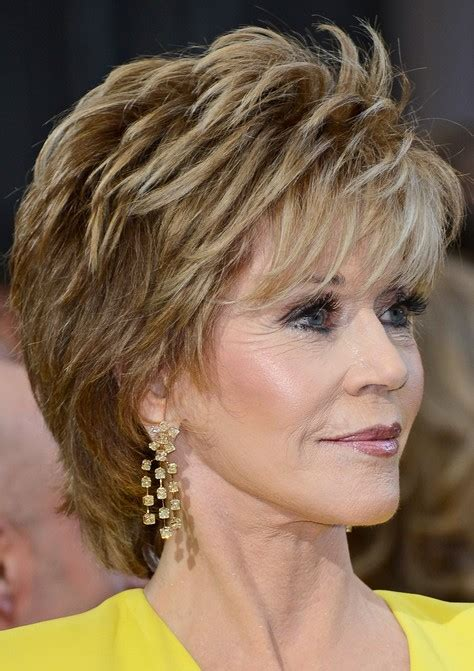 feather cut 60 s hairstyles 2014 jane fonda s short hairstyles shaggy pixie cut with