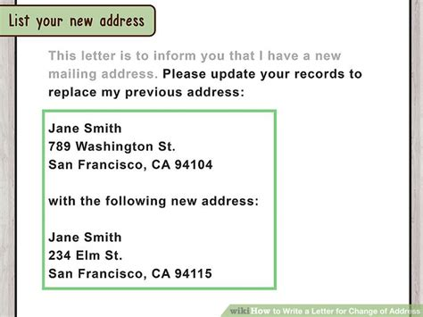 Records Address How To Write A Letter For Change Of Address With Pictures