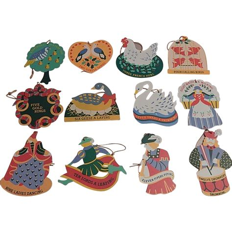 avon twelve days of christmas ornaments set from