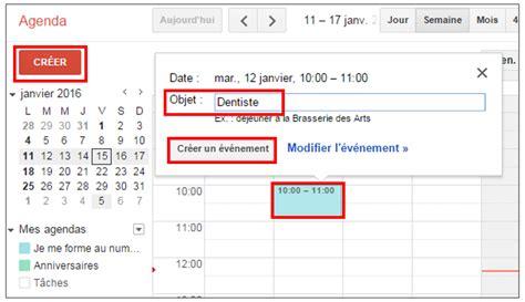 format excel jour de la semaine g 233 rer son planning avec google agenda je me forme au