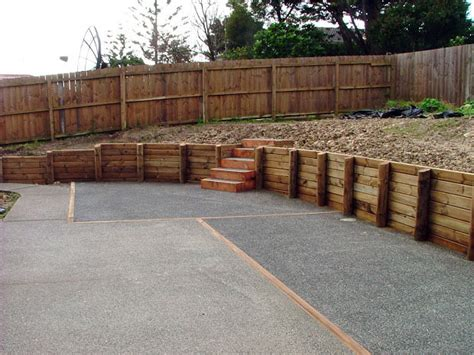 timber retaining wall designs landscape timber design