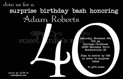 40th birthday invitation exle 40th birthday invites templates cloudinvitation