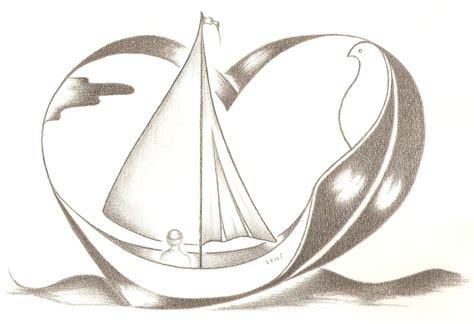 bootje tekenen tekening mensbootje