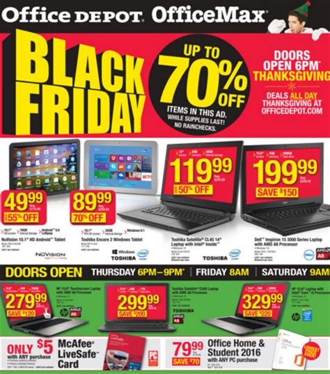 Office Depot Hours On Monday Office Depot Office Max Black Friday Ad 2015 My Dallas