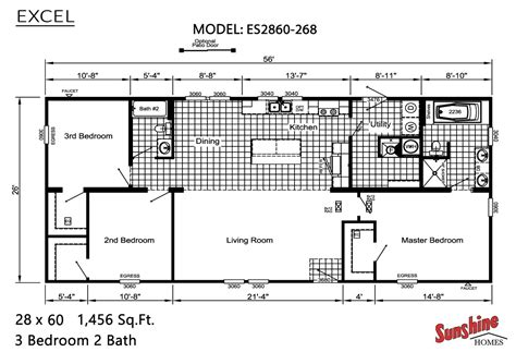exle floor plans excel es2860 268 by miller homes inc
