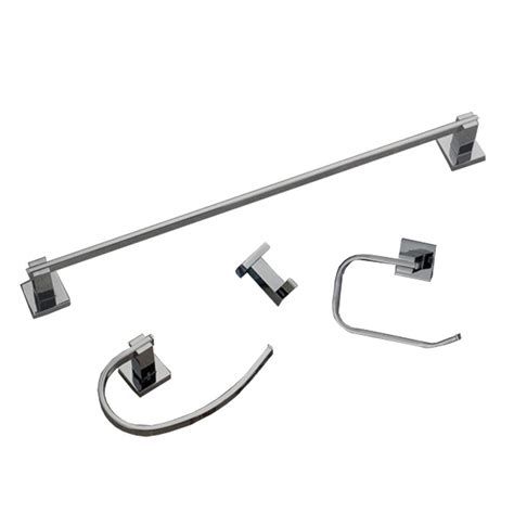 bathroom hardware sets brushed nickel homeselects contempo 4 piece bathroom hardware accessory set in brushed nickel 1781