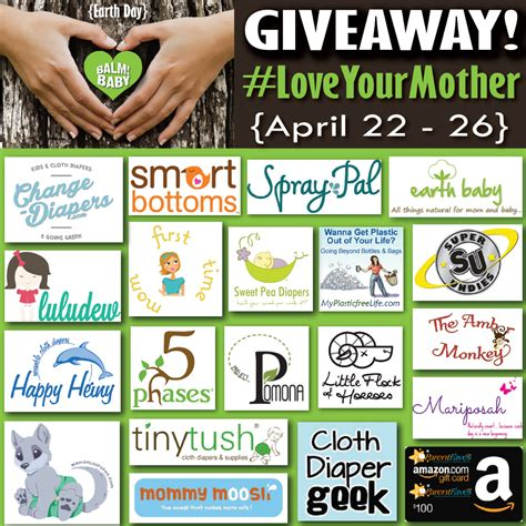 Earth Day Giveaways - balm baby loveyourmother earth day giveaway 100 amazon gc and more