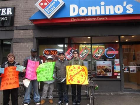 domino pizza owner domino s pizza owner fends off weekly picket lines