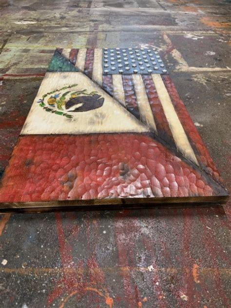 wood split  flag  mexico flag aftcra