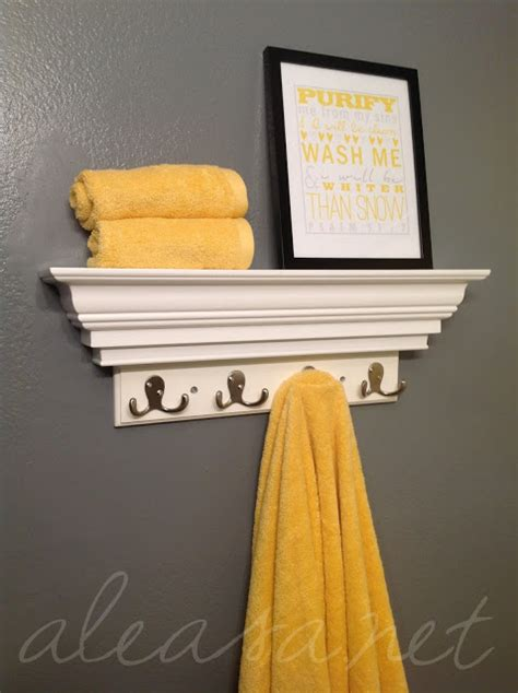 bathroom makeover the yellow and gray combo and the